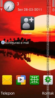 Sunset tema screenshot