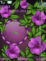 Violet Clock theme screenshot