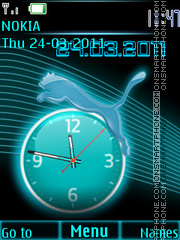 Puma Clock theme screenshot