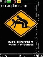 Funny No Entry es el tema de pantalla