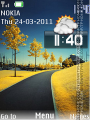 Nature Clock 07 theme screenshot
