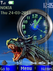 Dragon Clock 01 theme screenshot
