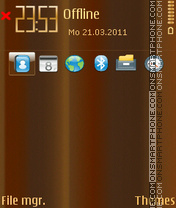 Chohcolate theme screenshot