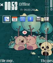 Talone bear theme screenshot
