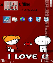 I Love You 36 theme screenshot