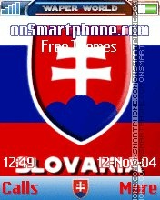 Slovakia Flag Theme-Screenshot