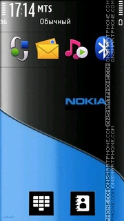 Black And Blue 01 theme screenshot
