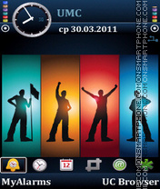 Silhouettes-man by Bolena theme screenshot