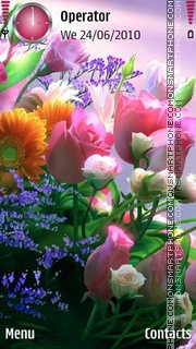Cool Flowers 01 tema screenshot