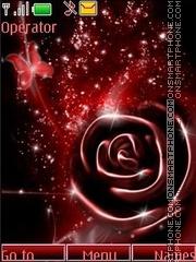 Rose Butterfly theme screenshot