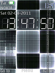 C. Clock tema screenshot
