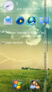 Nature HD theme screenshot