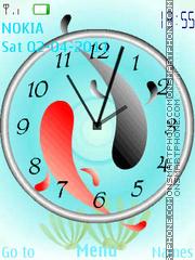 Fish Clock es el tema de pantalla