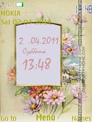 Flower Clock Theme-Screenshot