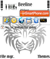 Tribal Tiger 240 yi theme screenshot