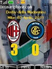 AC Milan vs Internazionale theme screenshot