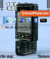 Nokia 3250 Black es el tema de pantalla