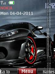 Black Ferrari 04 theme screenshot