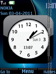 Black Clock 05 theme screenshot