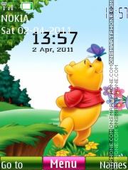 Pooh Clock 01 theme screenshot