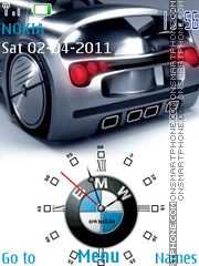 Flash Bmw Clock theme screenshot