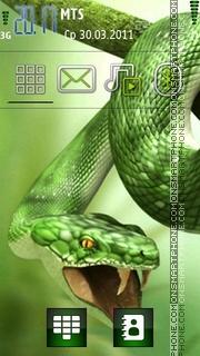Green Snake 03 tema screenshot