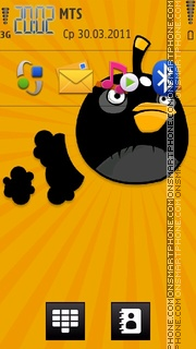 Angry Bird tema screenshot