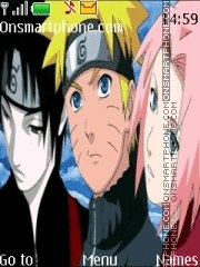 Naruto Team 7 theme screenshot