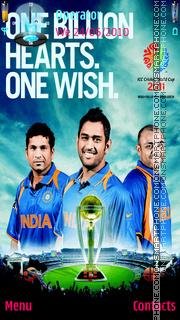 India 2011 World Champion theme screenshot