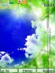The spring sun swf tema screenshot