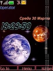 Earth mars swf theme screenshot