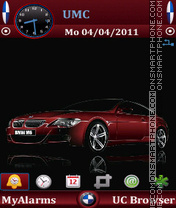 BMW M6 by Bolena theme screenshot