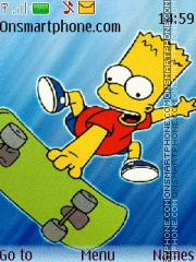 Bart Simpson 09 theme screenshot