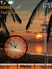 Beach Clock 02 theme screenshot