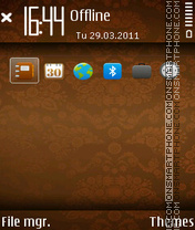 Brown 01 theme screenshot