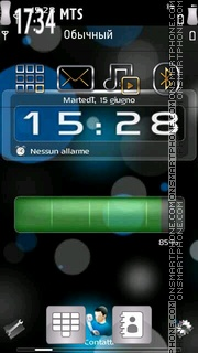 X6 Battery Clock theme screenshot