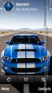 Ford mustang blue by dimitar theme screenshot