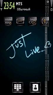 Just Live es el tema de pantalla