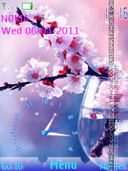 Spring Branch Clock tema screenshot