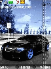 Bmw M6 Blue theme screenshot