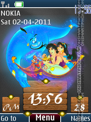Aladdin Clock 01 theme screenshot
