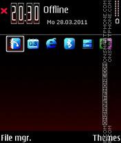 Capture d'écran R-e-d thème