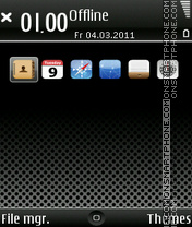 iPhone Dark E71 tema screenshot