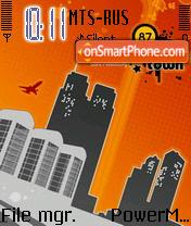 City 01 es el tema de pantalla
