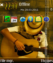 Guitar player 01 theme screenshot