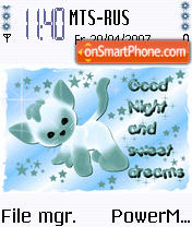 Animated Good Night. theme screenshot