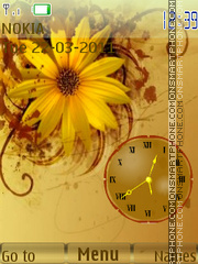 Flowers Clock 02 theme screenshot