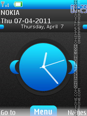 Nokia Desire Clock theme screenshot