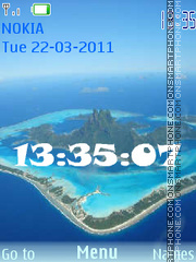 Ocean SWF Clock theme screenshot