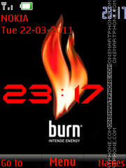 Burn energy clock theme screenshot